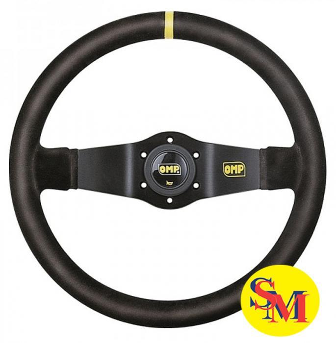 OMP Lenkrad Rallye 95mm geschüsselt  Wildleder schwarz Speichen schwarz