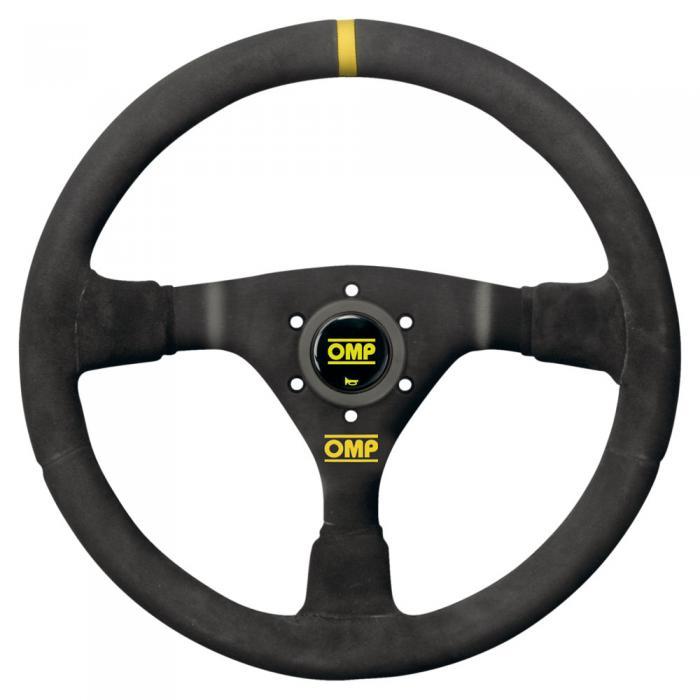 OMP Lenkrad WRC  Wildleder schwarz Speichen schwarz
