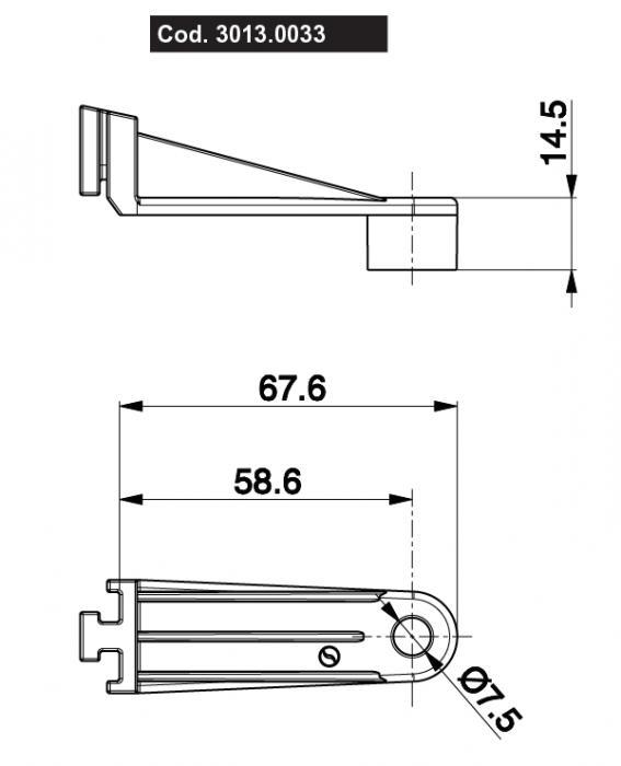 Spal Befestigungswinkel  58,6mm