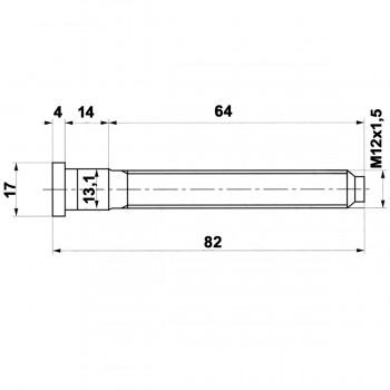 Spezial Radbolzen 12x1,5 82 lang  mit Kopf zum einschlagen (Ford)