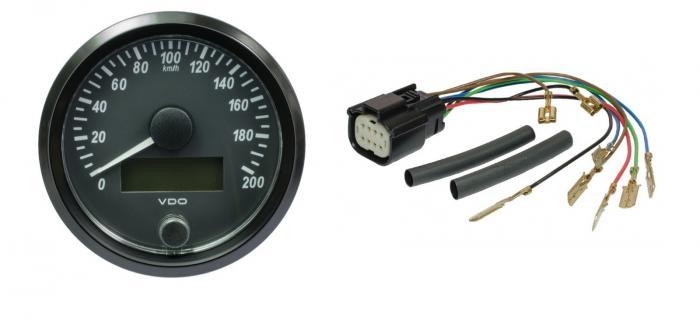 VDO Tachometer 80mm Single Viu  Meßbereich 0-200 km/h