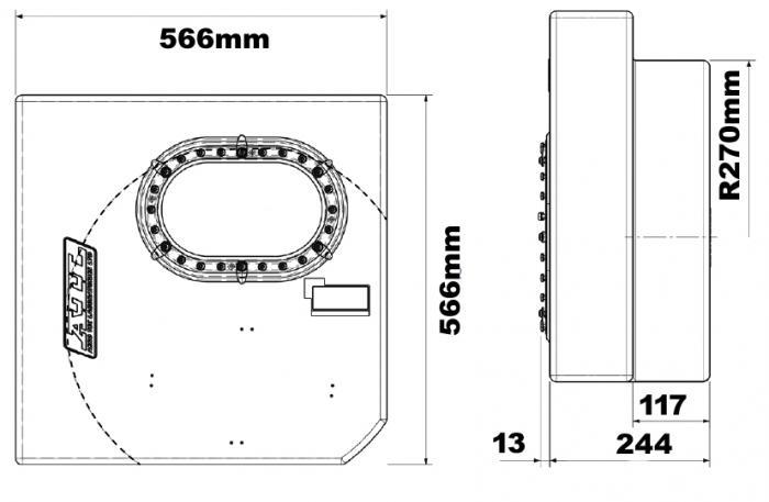 ATL Sicherheitstank 16 gal. 60ltr.  Well-Cell FIA FT3 zugelassen, ohne Catchtank