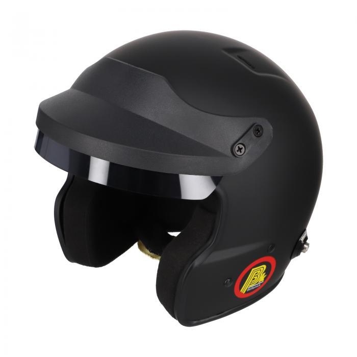 Beltenick® OF Racing schwarz mit Hans Clips  Homologation FIA 8859-2015 Jet Helm
