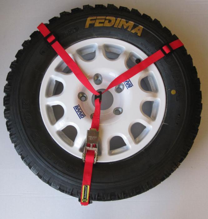 Reserveradhalter  Farbe: rot