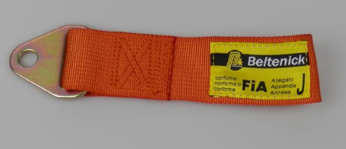 Abschleppschlaufe 200mm - FIA  Farbe: orange