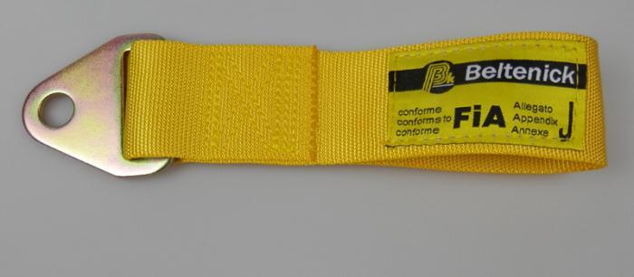 Abschleppschlaufe 200mm - FIA  Farbe: gelb