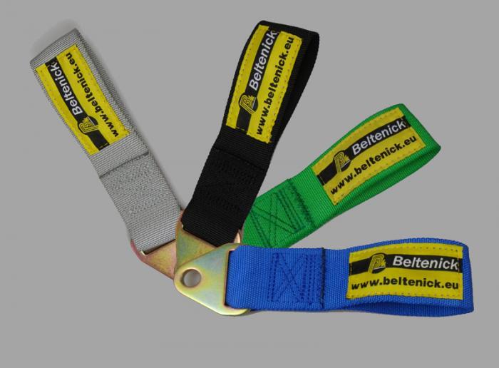 Abschleppschlaufe 200mm   - schwarz - blau - grün - silber -