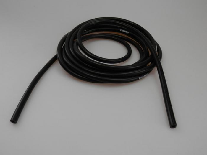 Beltenick® Unterdruckschlauch 4mm schwarz  3 Meter Rolle