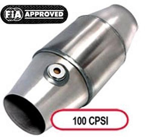 Race Katalysator Metallträger 100CPSI 101mm OD  FIA/DMSB zugelassen 63,5mm Anschluss