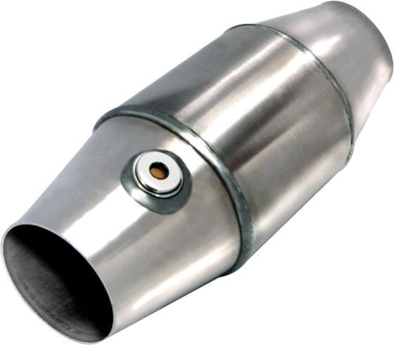 ECE Katalysator 200CPSI 125mm OD Euro 3/4  Metallträger E-Kennzeichnung 63,5mm Anschluss