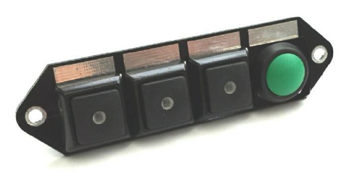 Schaltleiste blank für Cartek Power Distribution Module   CARTEK PDM Switch Panel 4W (black + START, plain)