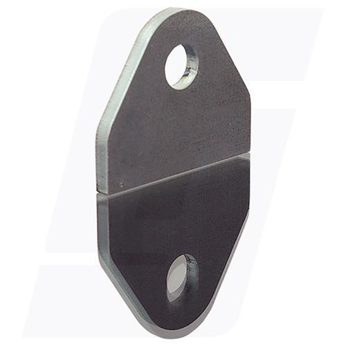 Schweisslasche Nr.27  50x40x4mm (mm Loch)  - Domex700