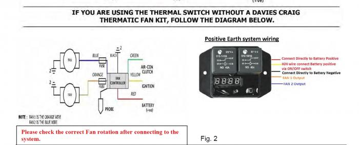 Thermoschalter für Wasserpumpe und Lüfter  301300134