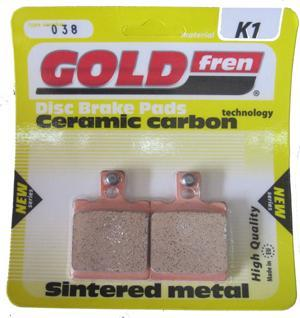 Bremsbeläge Gold fren (Grimeca 2-kolben)  Typ 038 (2-Kolben) Material K1