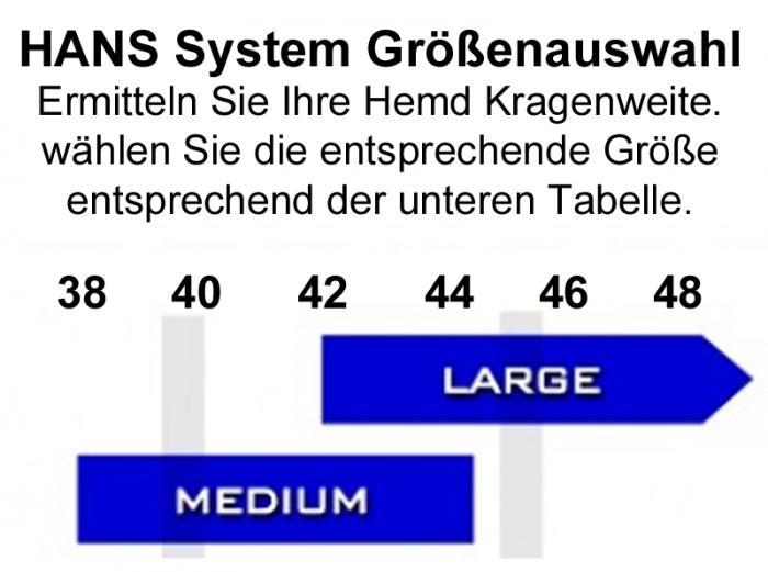 HANS System Performance III Sitzwinkel 20°  HANS Größe: Gr. M (Kragenweite -44cm)