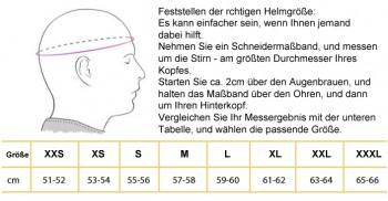 Helm + HANS Komplettangebot  Helm Gr.XXL, HANS  Gr.L, Kopfhaube: Löcher