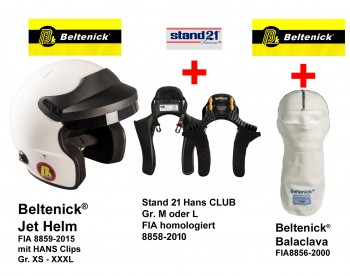 HANS Komplettangebot  Beltenick® Kombi Angebot FHR System