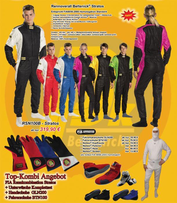 Weihnachtsangebot Beltenick® Racewear komplett