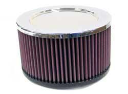 K&N Universalluftfilter, 76mm Flansch  Rund Zylindrisch, 178x178 102lg