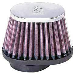 K&N Universalluftfilter, 51mm Flansch  Oval Konisch, 102x76 76x51 70lg