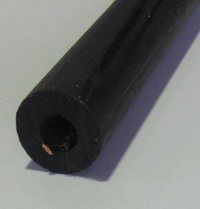 Kunststoffhohlstab PE schwarz Durchm.30x15