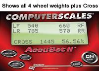 Longacre Radlastwaage AccuSet II   1587kg / Platte - 6350kg gesamt