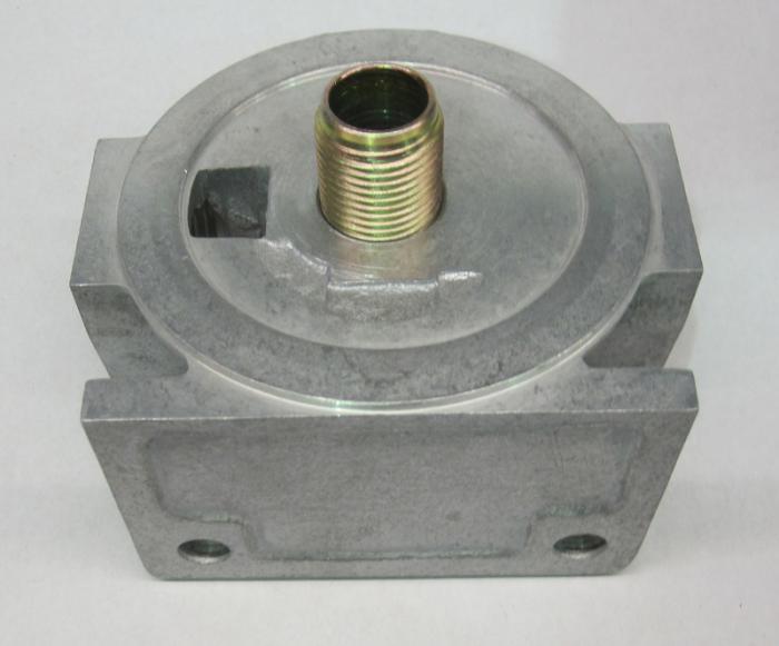"""Mocal Ölfilteraufnahme extern  3/4"""" Filter  Anschluss M22x1,5 innen (links - rechts)"""