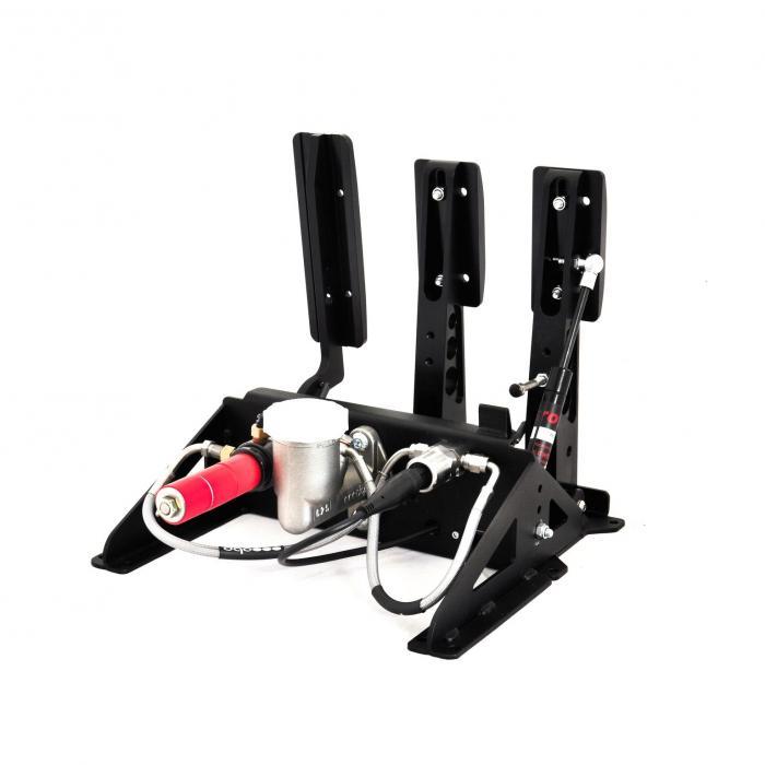 OBP Sim Racing E Sport Pedalbox schwarz  incl. hydraulischer Bremse