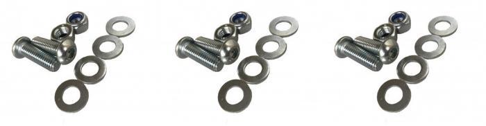Schraubensatz für Zylinder (Pedalboxen) OBP  Schrauben Unterlegscheiben Muttern für 3 Zylinder
