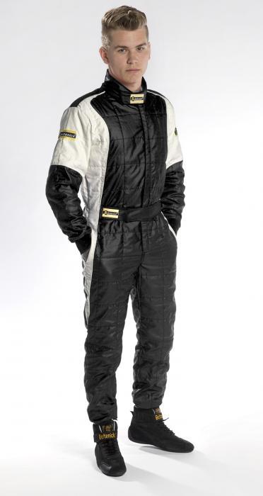 Rennoverall Beltenick® Stratos -  Overallgröße: Gr. XL (54-56), Overallfarbe: schwarz-silber