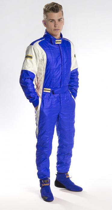Rennoverall Beltenick® Stratos -  Overallgröße: Gr. 2XL (58-60), Overallfarbe: blau-silber