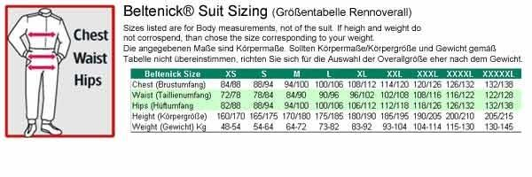 Rennoverall Beltenick® Stratos -  Overallgröße: Gr. 2XL (58-60), Overallfarbe: schwarz-silber