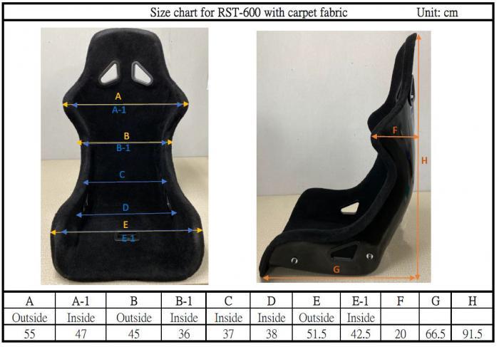 Beltenick® Rennsitz RST 600 GFK carpet  - Homologation FIA 8855-1999