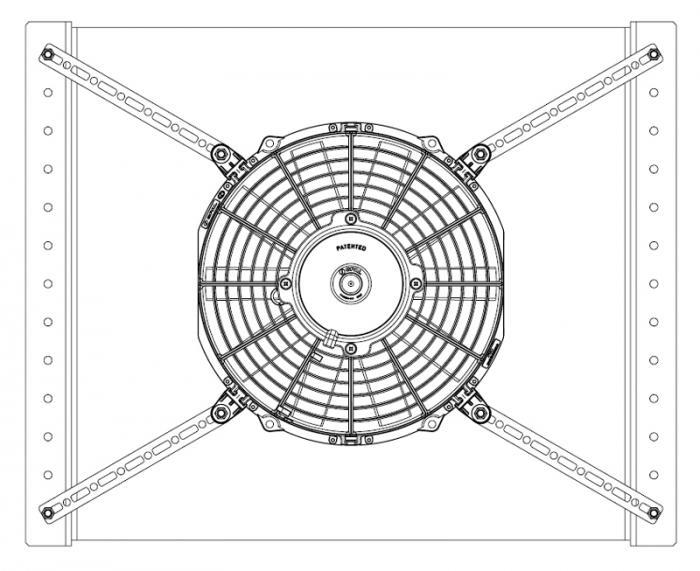 Spal Befestigungs Set  4x Laschen & 4x Nägel