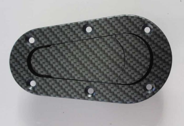 Haubenhalter Aerocatch Aufbau  carbonlook nicht abschließbar