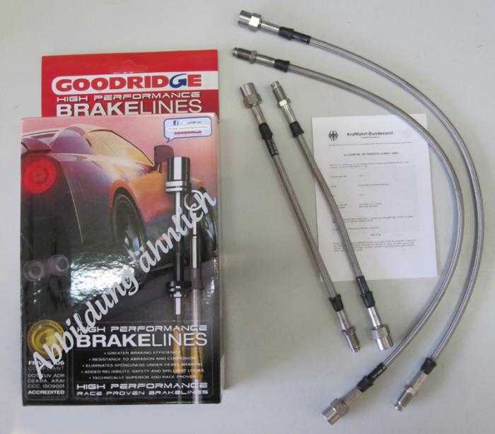 eintragungsfrei Stahlflex Bremsleitungen Fiat 127 900//1050//1050 Sport mit ABE