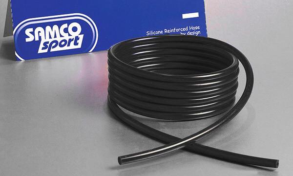 Samco Unterdruckschlauch 6,3 mm innen  3m lang, 2,5mm Wandung schwarz