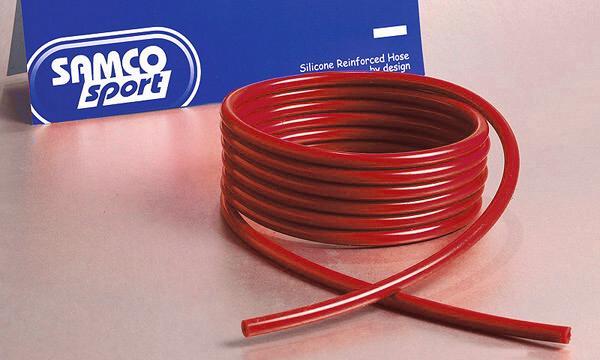 Samco Unterdruckschlauch 6,3mm innen   3m lang, 2,5mm Wandung rot