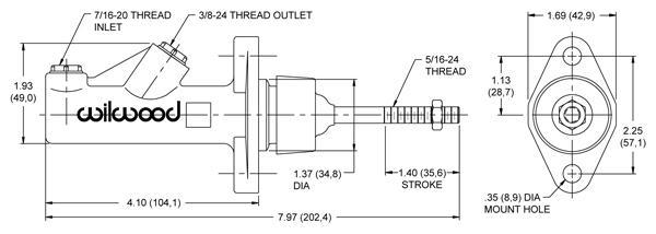 Wilwood Brems- und Kupplungszylinder   ohne Behälter