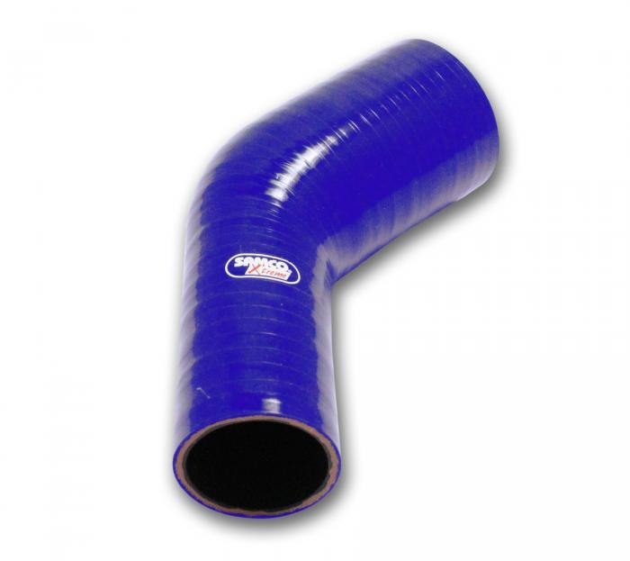 Samco Xtreme Reduzierstück 45° 70-60mm  blau