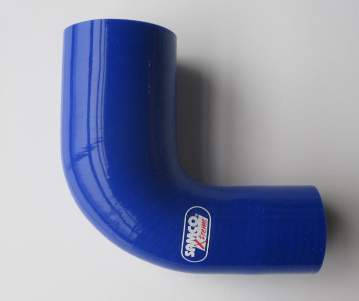 Samco Xtreme Réducteur 90 ° 76-60 mm bleu reduzierbogen