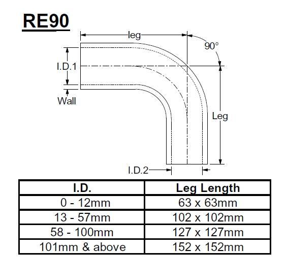 Samco X-Treme Reduzierstück 90° 57-51mm  rot