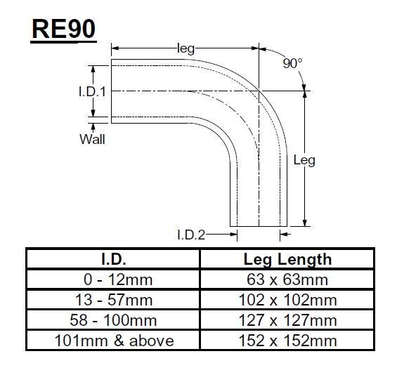 Samco X-Treme Reduzierstück 90° 80-60mm   rot