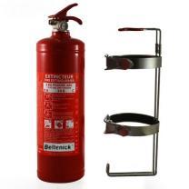 Beltenick® Stahl-Handlöscher 2 kg Pulver mit Schnellauslösesystem.