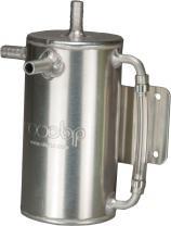 Öl Catchtank 1 liter rund  3 Anschlüsse Aluminium OBP