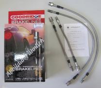 Goodridge Bremsschlauchsatz Audi 80 S2 2.2  Quattro 93> 4-teilig mit ABE
