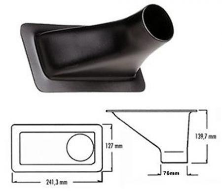 Rechteck-Lufteinlass Offset klein  Luftschlauchanschluss: 76 mm