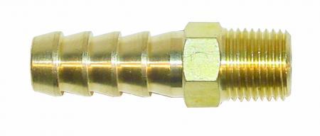 Anschluss gerade 1/8 NPTF x 8mm Rohr  für 5/16 Schlauch