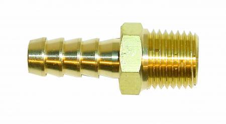 Anschluss gerade 1/4 NPTF x 10 mm Rohr  für 3/8 Schlauch
