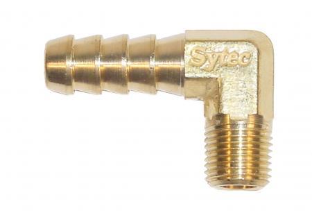 Anschluss 90° 1/4 NPTF x 10 mm Rohr  für 3/8 Schlauch